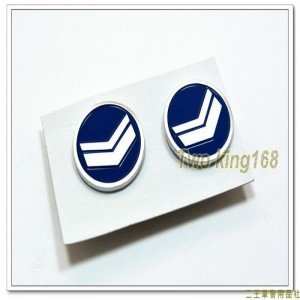 民國70年代早期空軍鋁質領章(下士)(小餅章)(一付兩入) ★小圓餅章 ★小餅乾章
