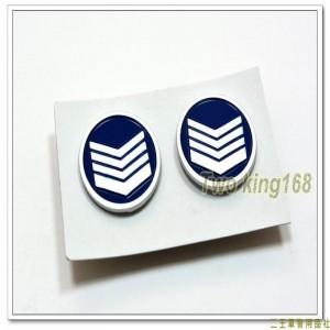 民國70年代早期空軍鋁質領章(上士)(小餅章)(一付兩入) ★小圓餅章 ★小餅乾章
