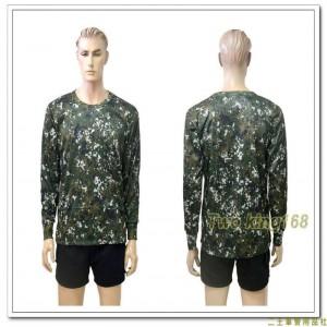 國軍數位迷彩吸濕排汗長袖內衣(J)