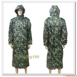 國軍數位迷彩雨衣(軍官大衣式)(公發制式)(J)