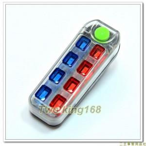 炫光LED自行車尾燈(方形)(USB充電)(EDS-M3319)