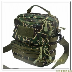 海軍陸戰隊數位虎斑迷彩側背包(防水布材質)(背面加模組帶)(中)