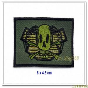 海軍陸戰隊兩棲偵搜部隊蛙兵胸章(微笑版)(不含氈)【M3-3】