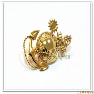 海軍陸戰隊徽(帽徽)(金色銅質)【bn19-6-1】