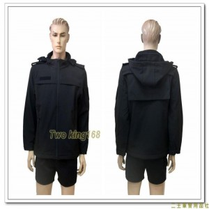黑色特勤外套(背面有活動片) ★黑色軟殼衣材質
